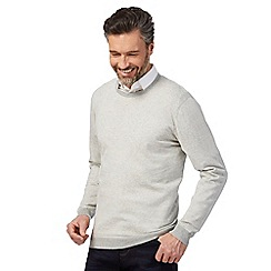 J by Jasper Conran - Light grey crew neck jumper