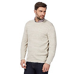J by Jasper Conran - Big and tall natural crew neck jumper