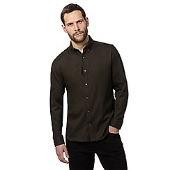 J by Jasper Conran - Dark green regular fit Oxford shirt