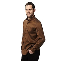 J by Jasper Conran - Big and tall camel regular fit oxford shirt