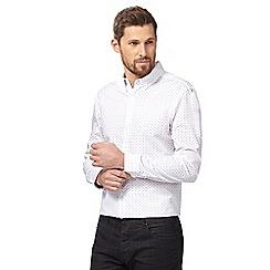 J by Jasper Conran - Big and tall white ditsy floral print shirt