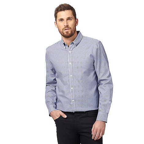 J by Jasper Conran - Blue spotted print shirt