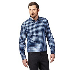 J by Jasper Conran - Big and tall blue gingham print shirt