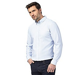 J by Jasper Conran - Blue dobby button down shirt