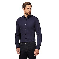 J by Jasper Conran - Navy linen rich shirt