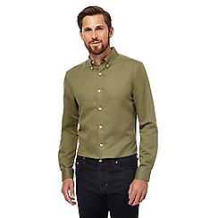 J by Jasper Conran - Big and tall khaki linen rich shirt