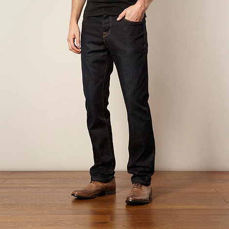 J by Jasper Conran - Big and tall designer dark blue straight leg jeans