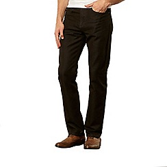 J by Jasper Conran - Designer dark brown straight leg jeans