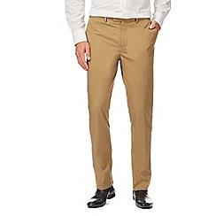 J by Jasper Conran - Big and tall tan tailored fit trousers