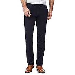 J by Jasper Conran - Big and tall dark blue straight fit chinos