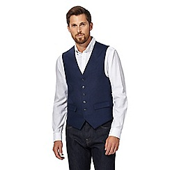 J by Jasper Conran - Big and tall blue linen waistcoat