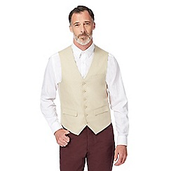 J by Jasper Conran - Big and tall beige linen waistcoat