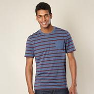Big and tall designer blue striped t-shirt