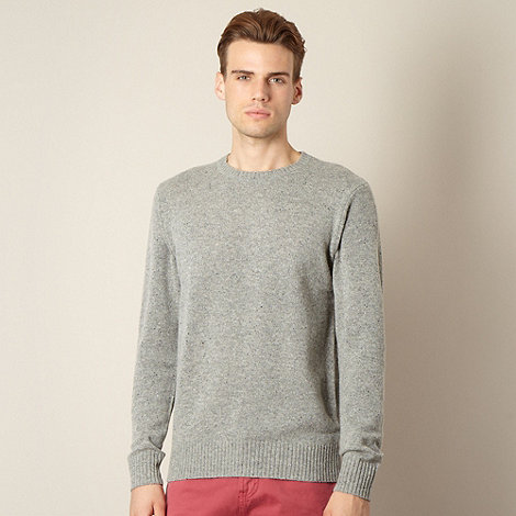 J by Jasper Conran - Designer grey crew neck jumper
