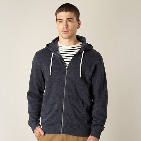 J by Jasper Conran - Big and tall designer navy marled hoodie