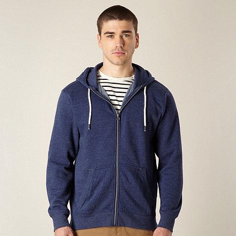 J by Jasper Conran - Designer blue marled hoodie