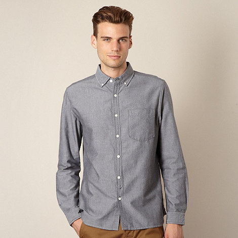 J by Jasper Conran - Designer dark grey oxford shirt