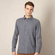 Designer grey gingham check shirt