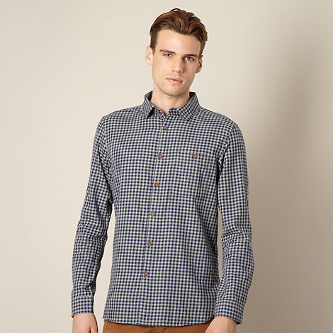 J by Jasper Conran - Designer grey gingham check shirt