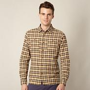 Designer mustard checkered shirt