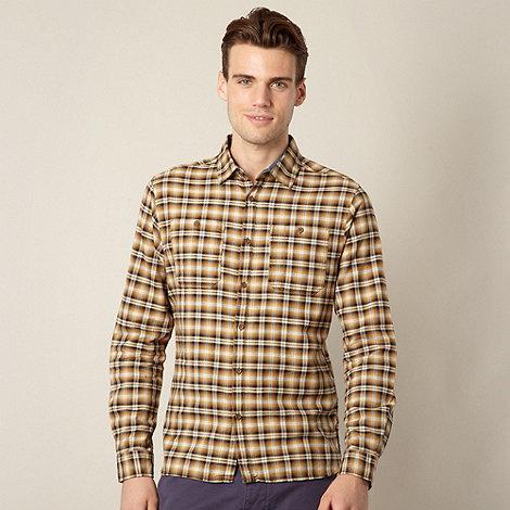 J by Jasper Conran - Big and tall designer mustard checkered shirt