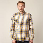 Big and tall designer mustard checked shirt