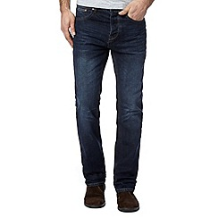 J by Jasper Conran - Big and tall designer mid blue washed straight leg jeans