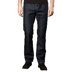 J by Jasper Conran - Big and tall designed dark blue straight leg jeans