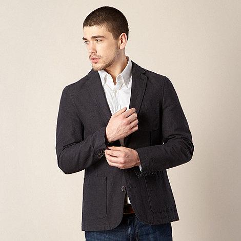 J by Jasper Conran - Designer dark grey washed canvas blazer