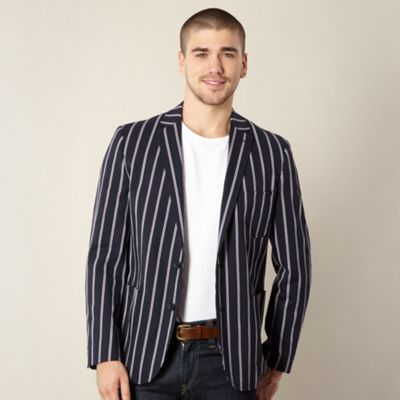 A fantastic british boating blazer in striking black,blue,pink stripes. jasper conran mens striped blazer/jacket l. Massimo Dutti Blue Pin Stripe Good condition Great value for money Other items for sale, will combine post from London See complete description Notify me before the end of the auction/5(8).