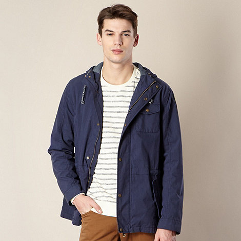J by Jasper Conran - Navy hooded three pocket jacket
