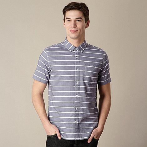 J by Jasper Conran - Big and tall designer blue striped oxford shirt