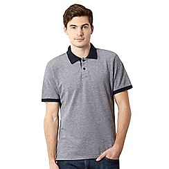 J by Jasper Conran - Big and tall designer navy pique polo shirt