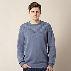 J by Jasper Conran - Designer blue textured panel jumper