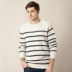 J by Jasper Conran - Designer cream textured striped jumper