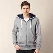 Designer dark blue mottled hoodie