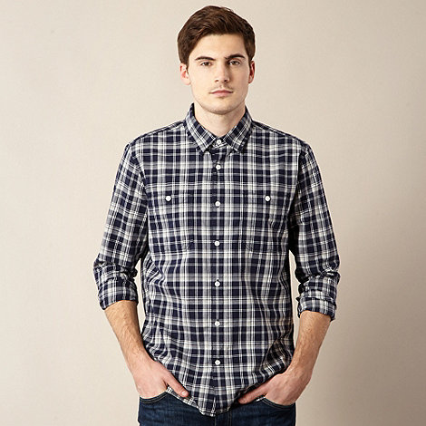 J by Jasper Conran - Designer navy large checked shirt
