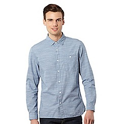 J by Jasper Conran - Blue fine striped button down pocket shirt