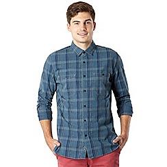 J by Jasper Conran - Big and tall designer mid blue large checked shirt
