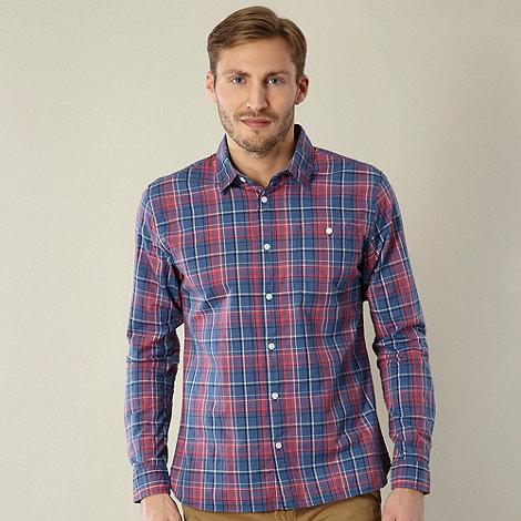 J by Jasper Conran - Big and tall designer blue marl checked shirt