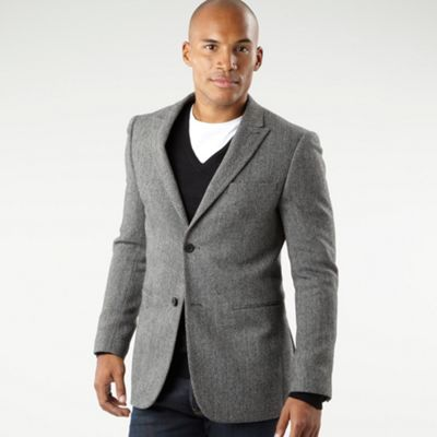 jasper conran Grey herringbone tweed jacket