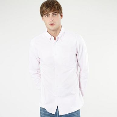 Light pink plain Oxford shirt