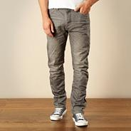 Big and tall designer grey straight leg jeans
