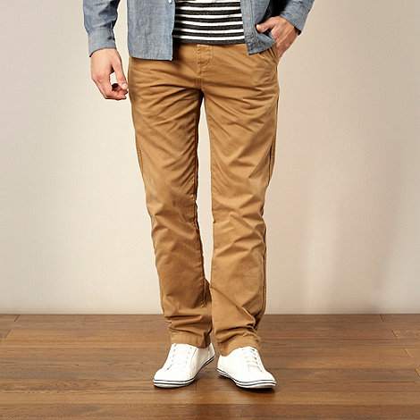 J by Jasper Conran - Designer dark tan straight leg chinos