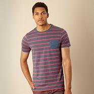 Designer blue breton striped t-shirt