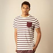 Designer cream breton striped t-shirt