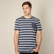 Designer navy mottled striped t-shirt