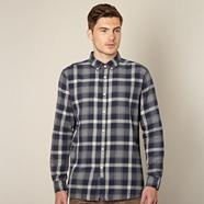 Big and tall navy checked shirt