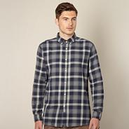 Designer navy checked shirt