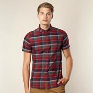 Big and tall designer red checked shirt